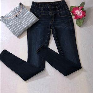 REFUGE High Waist Dark Wash Skinny Jeans Size 0